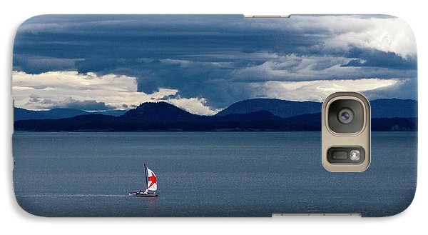 Galaxy Case featuring the photograph Red Star Sail by Lorraine Devon Wilke