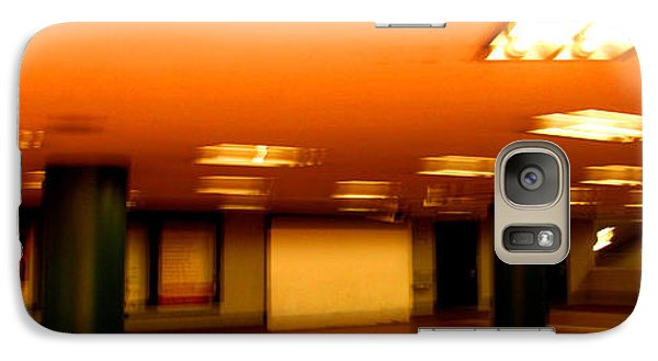 Galaxy Case featuring the photograph Red Subway by Andy Prendy