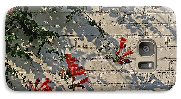 Galaxy Case featuring the photograph Red Summer Trumpets by Deborah Smith