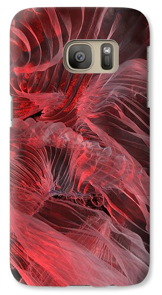 Galaxy Case featuring the photograph Red Textures by Gillian Charters - Barnes