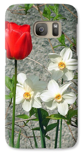Galaxy Case featuring the photograph Red Tulip by Richard James Digance