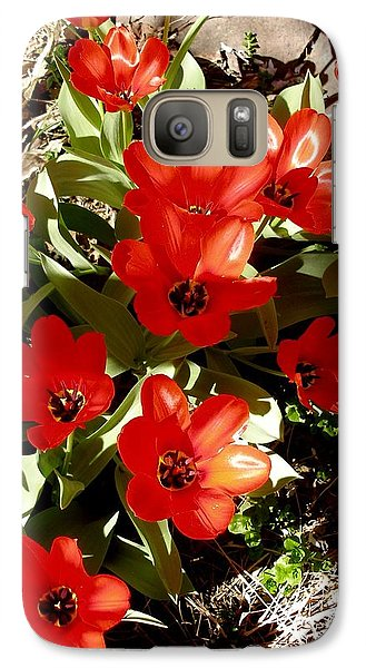 Galaxy Case featuring the photograph Red Tulips by David Pantuso