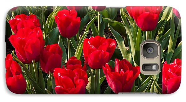 Galaxy Case featuring the photograph Red Tulips by Hans Engbers