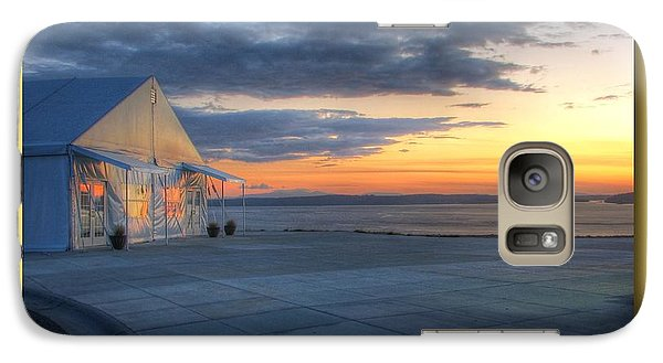 Galaxy Case featuring the photograph Reflecting Sunset - Chambers Bay Golf Course by Chris Anderson