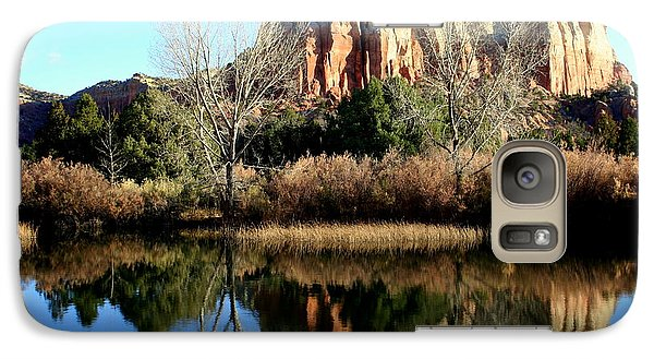Galaxy Case featuring the photograph Reflection At Ghost Ranch by Laurel Talabere