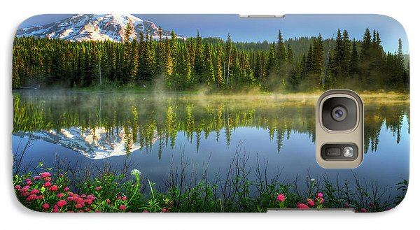 Galaxy Case featuring the photograph Reflection Lakes by William Lee