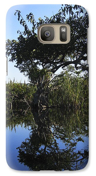 Galaxy Case featuring the photograph Reflection Of Arched Branches by Anne Mott