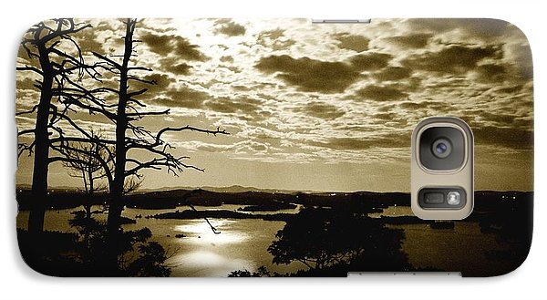 Galaxy Case featuring the photograph Reflection Of Moonlight On Squam by Rick Frost