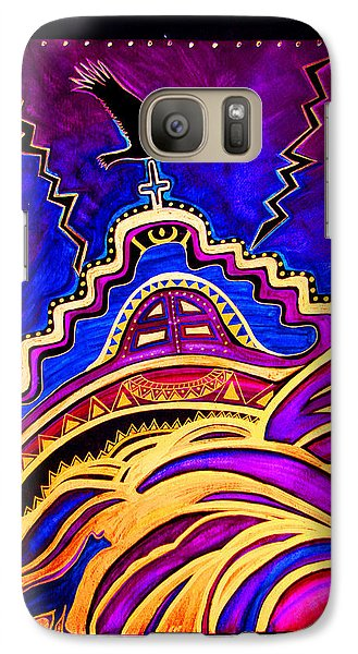 Galaxy Case featuring the painting Refuge At The End Of Time by Susanne Still