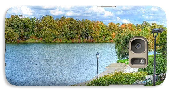 Galaxy Case featuring the photograph Relaxing At Hoyt Lake by Michael Frank Jr
