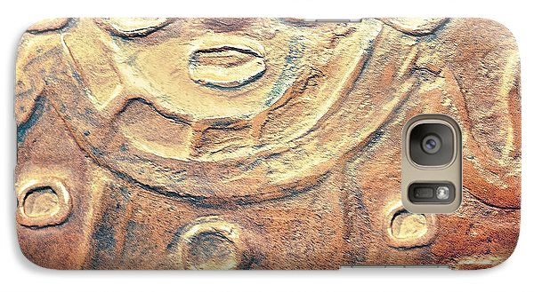 Galaxy Case featuring the photograph Relief Art In Earthtones by Artist and Photographer Laura Wrede