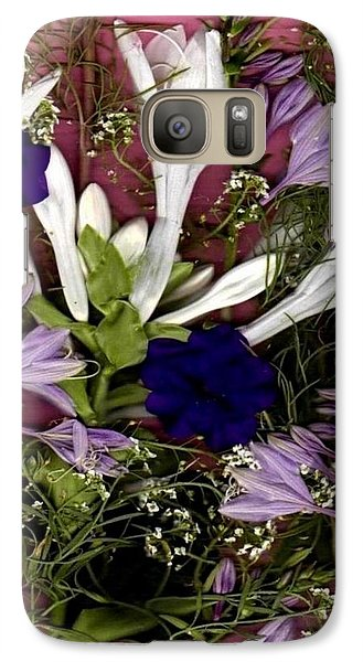 Galaxy Case featuring the mixed media Restful Flowers For You by Ray Tapajna