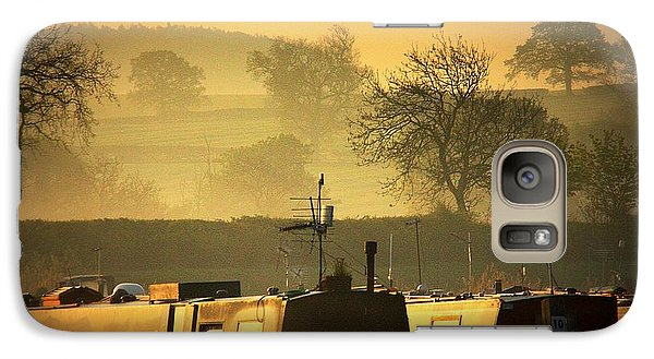 Galaxy Case featuring the photograph Resting Narrowboats by Linsey Williams