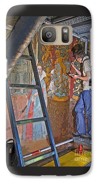 Galaxy Case featuring the photograph Restoring Art by Ann Horn
