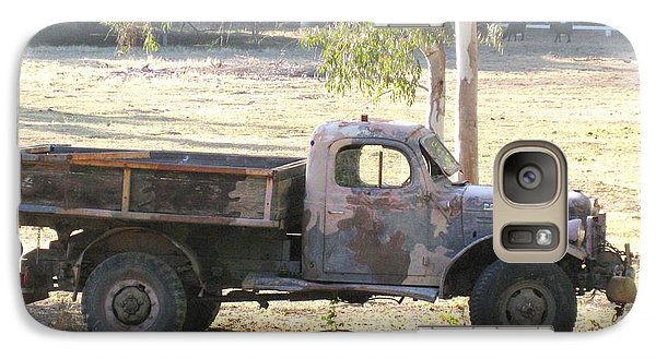Galaxy Case featuring the photograph Retired Power Wagon by Sue Halstenberg