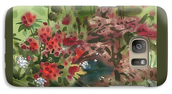 Galaxy Case featuring the painting Rhododendron And Red Maple by Donald Maier
