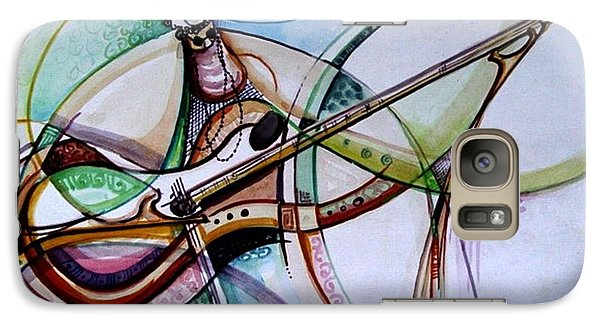 Galaxy Case featuring the painting Rhythm Of The Strings by Oyoroko Ken ochuko