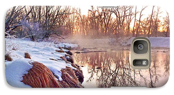 Galaxy Case featuring the photograph River Grasses Colorado by William Fields