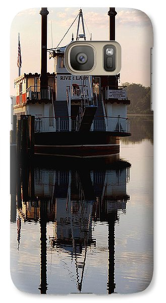 Galaxy Case featuring the photograph River Lady Cruise by Sami Martin