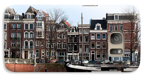 Galaxy Case featuring the digital art River Scenes From Amsterdam by Carol Ailles