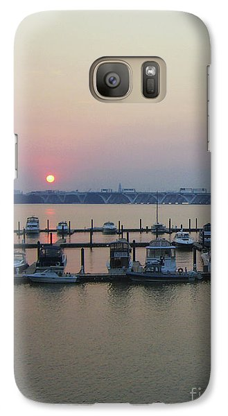 Galaxy Case featuring the photograph River Sunset by Michael Waters