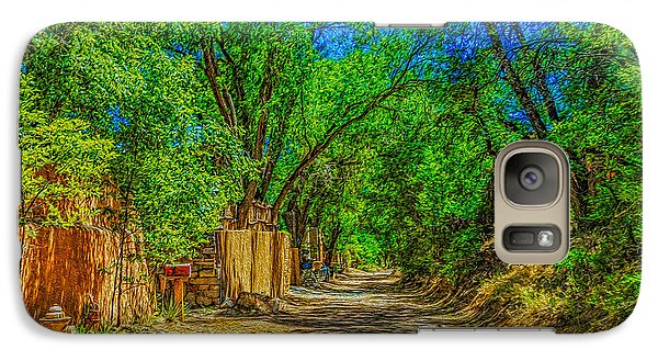 Galaxy Case featuring the photograph Road To Santa Fe by Ken Stanback