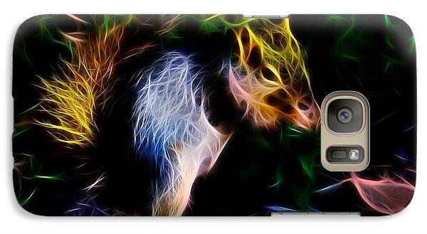 Galaxy Case featuring the digital art Robbie The Squirrel - 7839 - Fractal by James Ahn