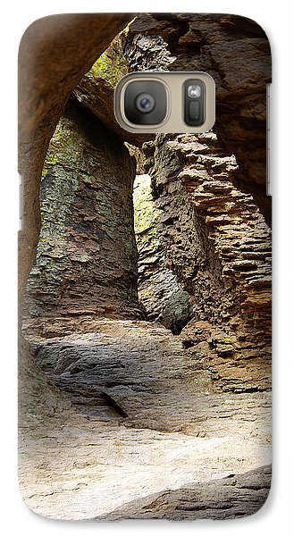 Galaxy Case featuring the photograph Rock Chamber by Vicki Pelham