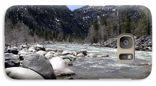 Galaxy Case featuring the photograph Rock In The River by Lorraine Devon Wilke