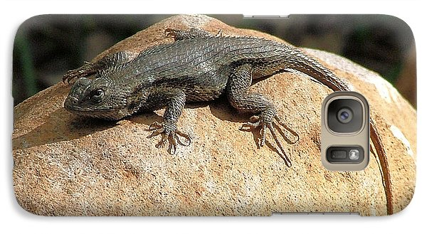 Galaxy Case featuring the photograph Rock Lizard by Wendy McKennon