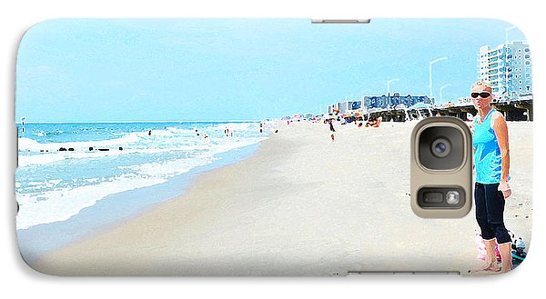 Galaxy Case featuring the photograph Rockaway Beach Sparkle by Maureen E Ritter