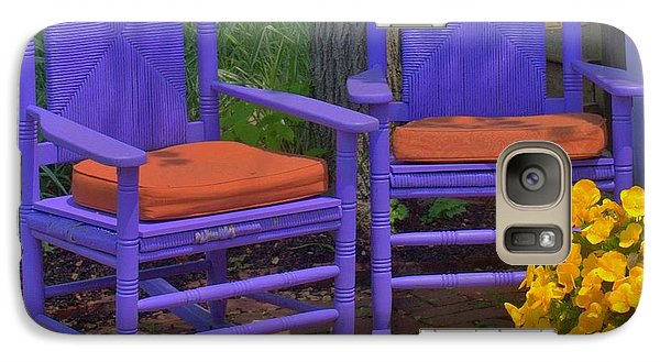 Galaxy Case featuring the photograph Rocking Chairs Of Gloucester by Caroline Stella