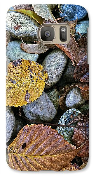 Galaxy Case featuring the photograph Rocks And Leaves by Bill Owen