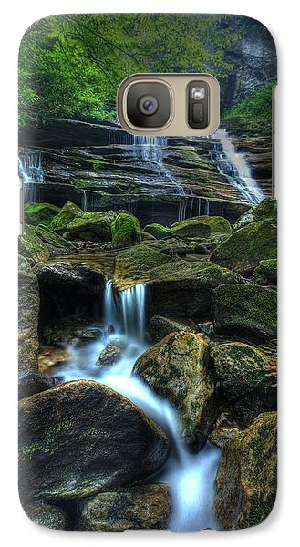 Galaxy Case featuring the photograph Rocks And Water by Doug McPherson