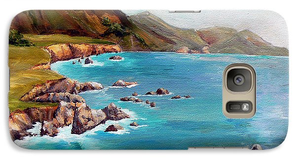 Galaxy Case featuring the painting Rocky Point At Big Sur by Terry Taylor