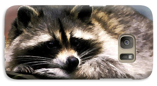 Galaxy Case featuring the painting Rocky Raccoon by Robert Smith