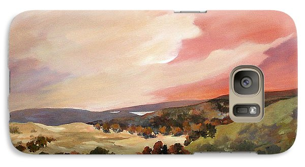 Galaxy Case featuring the painting Rolling Vineyards 2 by Rae Andrews