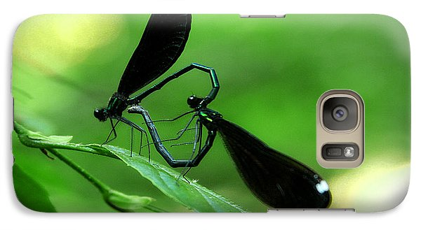 Galaxy Case featuring the photograph Romantic Damselflies by Emanuel Tanjala