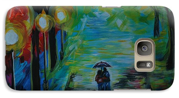 Galaxy Case featuring the painting Romantic Stroll Series 1 by Leslie Allen