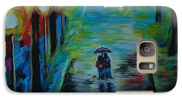 Galaxy Case featuring the painting Romantic Stroll Series II by Leslie Allen