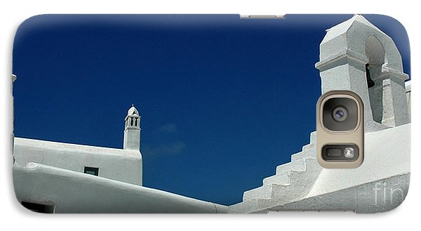 Galaxy Case featuring the photograph Rooftops Of Mykonos by Vivian Christopher