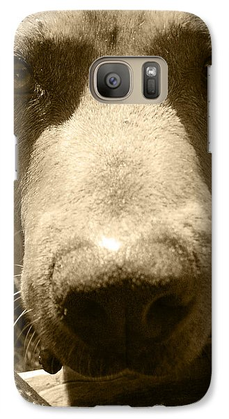 Galaxy Case featuring the photograph Roscoe Pitbull Eyes by Kym Backland