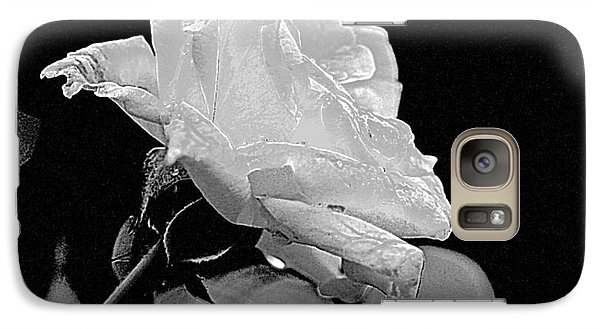 Galaxy Case featuring the photograph Rose - Black And White by Luana K Perez