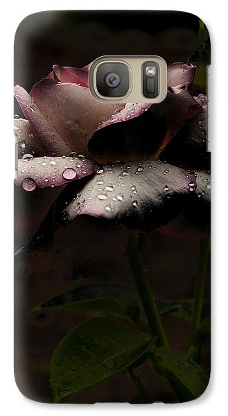 Galaxy Case featuring the photograph Rose After Dark by Barbara Middleton