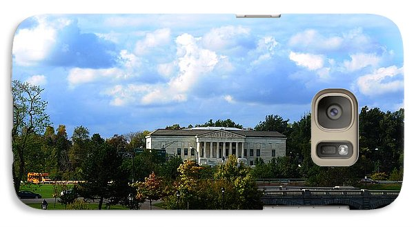 Galaxy Case featuring the photograph Rose Garden And Hoyt Lake by Michael Frank Jr