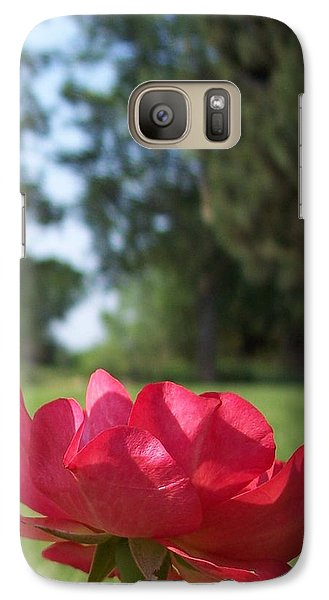 Galaxy Case featuring the photograph Rose Red by Rebecca Overton