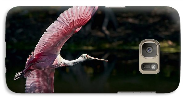 Galaxy Case featuring the photograph Roseate Spoonbill by Steven Sparks