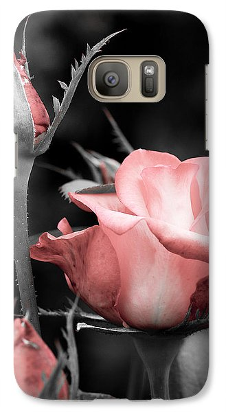 Galaxy Case featuring the photograph Roses In Pink And Gray by Michelle Joseph-Long
