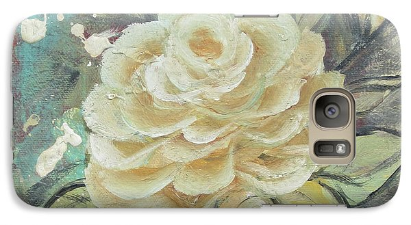Galaxy Case featuring the painting Rosey by Kathy Sheeran