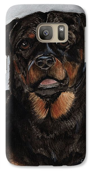 Galaxy Case featuring the painting Rottweiler  by Nancy Patterson